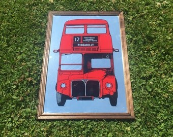 Vintage Double Decker London Bus Mirror