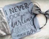 The Incredibles Pixar Inspired Shirt, Disney Inspired T-shirt, Edna, Never Look Back Darling, It distracts from the now. Disney Quote Shirt