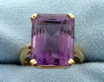 12 ct Amethyst Ring in 14k Gold