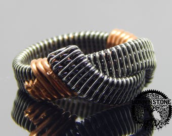 Wire wrapped ring Mens ring Womens ring Copper silver ring Steampunk ring Wire wrap ring Best gift Infinity ring Magic ring Husband gift