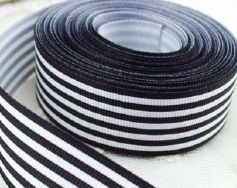 Striped grosgrain gift wrap ribbon, wedding decorations, wedding display, wedding gift table, wedding Decor, wedding decorations,