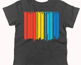 Retro 1970's Style Washington DC Cityscape Downtown Skyline Infant / Toddler T-Shirt