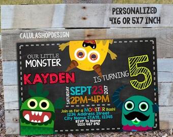 Monster Inc Invitation, Monster Inc Birthday, Monster Inc Party, Monster Inc Card, Monster Inc Printable, Monster Inc, Monster_BS129