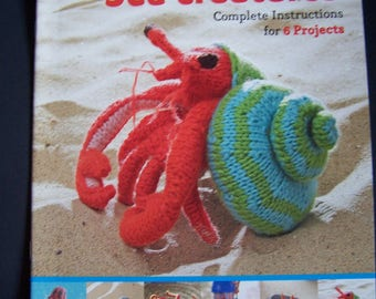 Knitted Amigurumi SEA CREATURES  Complete Instructions for 6 Projects