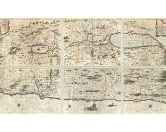Holy Land, Israel & Palestine, Antique Map 1662