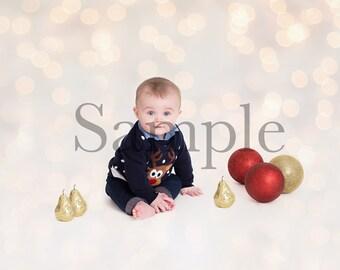 Newborn Baby Digital Christmas Backdrop