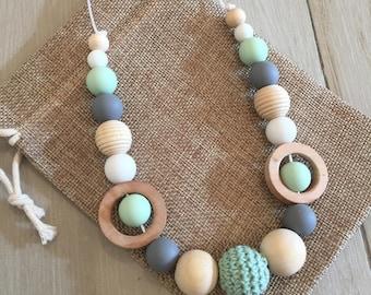 80cm Parent & Bub Nursing, Sensory Teething Necklace, Natural, Quality Hand Made