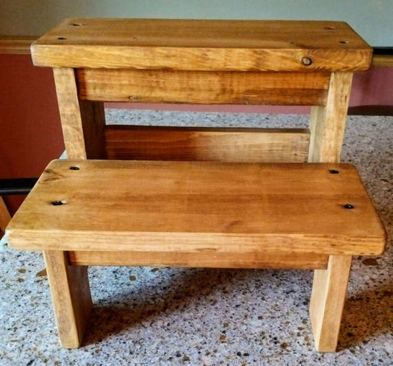 Like this item? & Rustic two step stool wood step stool Wood pet steps wood islam-shia.org
