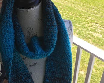 Teal and Grey Scarf