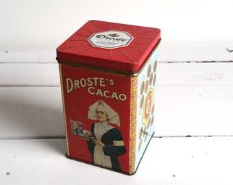 Droste cacao tin box