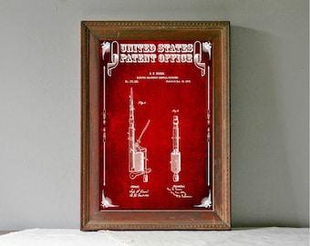 Dental Plugger Patent, Patent Print, Wall Decor, Dental Office Decor, Medical Art, Dental Art, Dentist Decor, Dental Tools, Dentist Patent