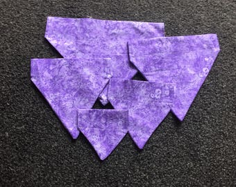 Lilac Dragonfly Dog Bandana - in five sizes