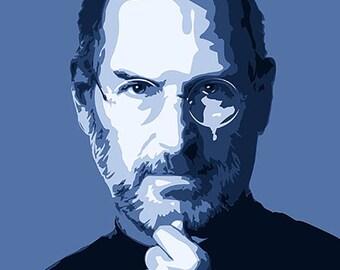 Steve Jobs digital artwork print