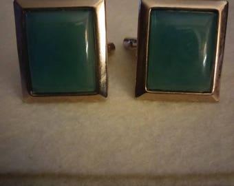 Vintage Faux Jade Cuff Links