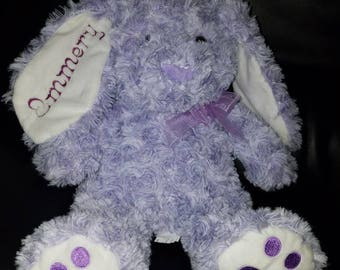 Embroidered purple bunny emmery