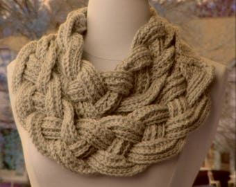 Dbl Layered Braided Cowl