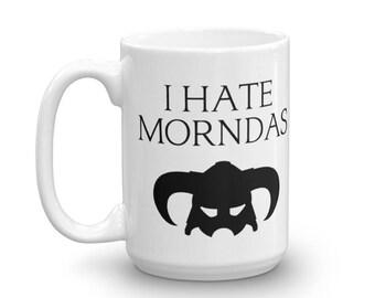 Skyrim I Hate Morndas Coffee Cup | Skyrim Coffee cup | I Hate Morndas cup | Skyrim gift | Elder Scrolls