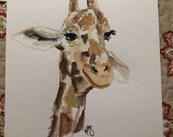 Funny face giraffe