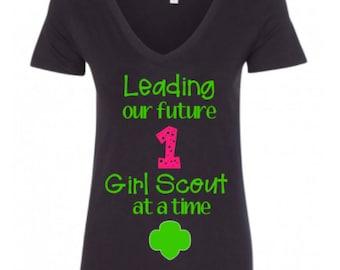 Girl Scout Leading Shirt, Girl Scout Shirt, Girl Scout Leader Shirt.
