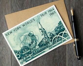 new york birthday cards, new york city cards, worlds fair NY, new york city, new york world's fair, NY worlds fair, world's fair new york