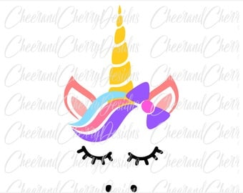 Unicorn SVG Unicorn face svg Unicorn Flowers svg Unicorn Party Svg Unicorn horn svg Bow SVG Unicorn DXF Unicorn Silhouette Svg for cricut