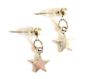 Simple Silver Star Studs
