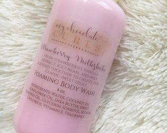 Strawberry,Foaming Body Wash, Body Wash, Soap, Liquid Soap, Bath wash, Bath and Body, Dessert Beauty, Skin Care, Beauty, Moisturizer, Soap