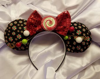 Custom Made Christmas Minnie Ears