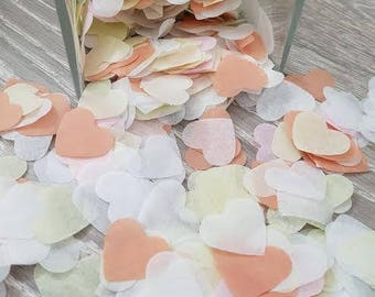 Lime-Peach-White-Pale pink throwing and table decor heart confetti variation.Wedding Birthday baby showers and more decor 1300pc-8000pc