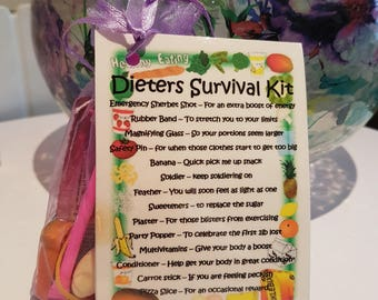 Diet Survival Kit - Novelty gift for a friend or loved one on a Diet
