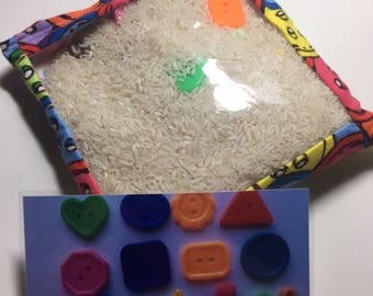 Colorful I Spy Bag! I spy bag, educational activity, quiet game, quiet activity