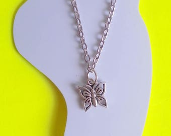 Silver charm ankle chain