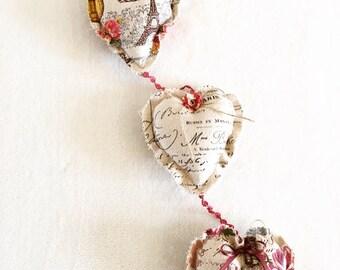 Hanging hearts decoration