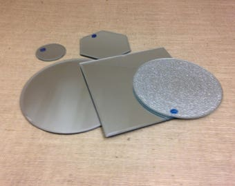 Mirror Plates - in a variety of sizes & shapes - flowers/display etc
