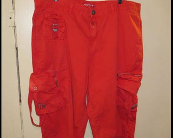 Vintage RED GOTH PANTS, Size 36