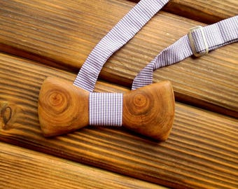 Wood bow tie Holiday bow tie  Christmas boyfriend gift Boss holiday gift Wedding Groomsmen tie Xmas husband gift Graduation gift for him