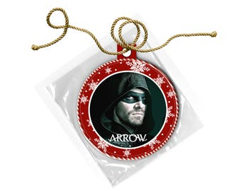 Arrow Stephen Amell Green Arrow Christmas Ornament
