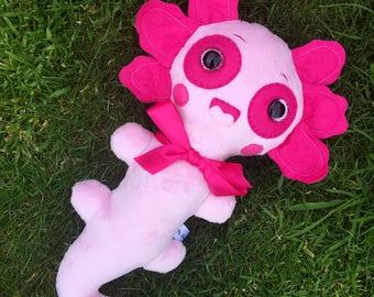 Pink Axolotl Plush Toys Kawaii Plushie Weird Stuffed Animals Limited Edition Toy OOAK Art Dolls Sea Monster Creature