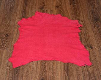 Pink lambskin leather with velvet finish (9244653)