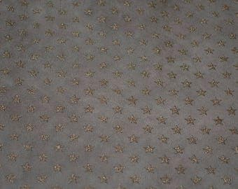 Leather skin of fawn lamb printed star (2017081108)