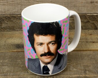 Alex Trebek Mug Jeopardy TV gifts for dad boyfriend Trivia fans funny mugs game show moustache canadian pride MOM grandmother presents