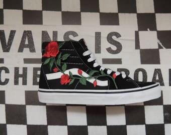 Custom Rose Vans SK8-HI