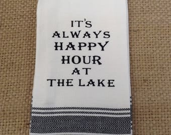 Funny Kitchen Dish Towel - Perfect gift for Friend, Hostess or Housewarming.