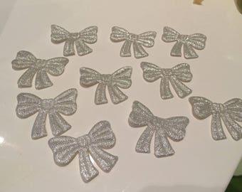 10 bow tie silver 4 * 4 cm