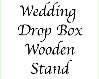 Bamboo Wedding Drop Box Stand