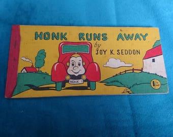 Honk runs away vintage book