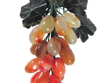 Bunch of grapes in carnelian