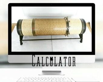 Rare LOGA Cylindrical Slide Rule Calculator 15m - c1910