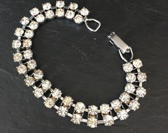Diamante bracelet. Costume jewellery. Rhinestone bracelet. Gift for her. Vintage bracelet, Vintage jewellery. Bracelet