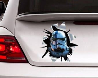 Stormtrooper car sticker, 3d decal, star wars sticker